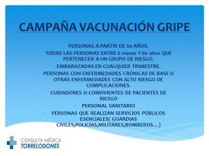CAMPAÑA VACUNACIÓN GRIPE