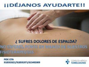 CARTEL DOLOR DE ESPALDA